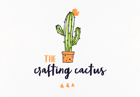 A colorful, whimsical logo for The crafting cactus designed by ananana14