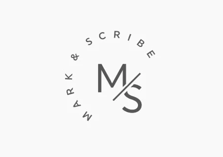 Lettermark for Mark & Scribe designed by mm graphics